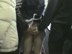 Shy Schoolgirl groped on train