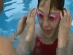 Japanese  fuck inside a popular swimming pool