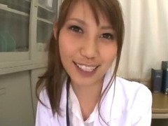 Adorable Japanese nurse Ebihara Arisa loves her job and all the horny patients she can examine