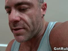 Hunky guy gets oiled up and gay massaged part4