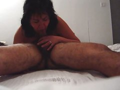 mature chubby asian cock sucking blowjob slut 69 my balls