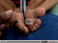 Very hot footjob and fuck by big boobed latina
