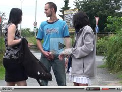 Risky public threesome with a pregnant woman! AWESOME!