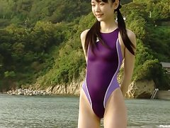 softcore cute asian swimsuit