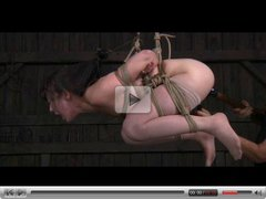 BDSM Asian Slave Nyssa Nevers Suspended Whipped in Bondage