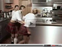 Schoolgirls are teasing, stripping and playing.