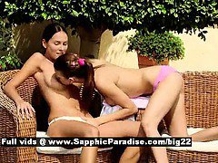 Juliette and Deny from sapphic erotica lesbo girls licking