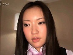 Appealing asian schoolgirl gets assets teased in 3some