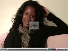 Ebony Amateur Does her first Video