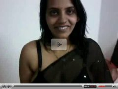 Indian in Black Saree