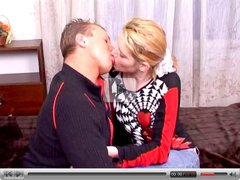 Home blond creampie