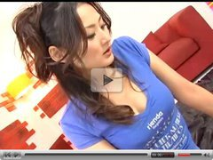 Japanese Hottie in a Blue Shirt