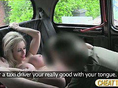 Sexy Chessie shows her beautiful ass and gets fucked in the taxi