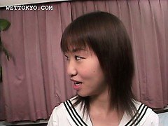 Horny teen asian girl showing her undies upskirt