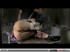 BDSM Slave Elise Graves Pervert Enema Punishment and Outdoor