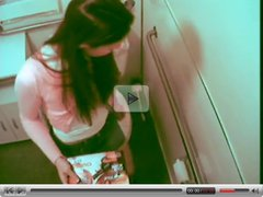 A girl caught masturbating in toilet 2 by twistedworlds