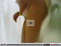 Hidden cam spy mature in the shower