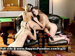 Aneta and Zoe and Mya astonished lesbian babes anal fingering