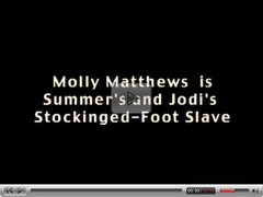 Molly is Summer's and Jodi's Stocking Slave