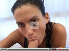 spanish teen Angeles giving a slow but good BJ
