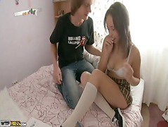 Chick with perfect body licked and fingered hard
