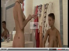 pretty lesbians fisting in shower