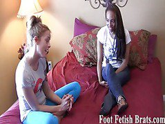 Ayanna sucking feet for free yoga lessons