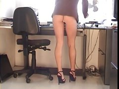 Office angel Upskirt