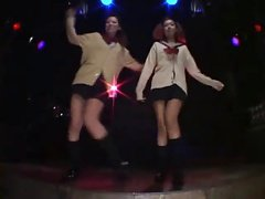 2 Sexy Japanese Schoolgirl Gogo-girls Disco Stripdance