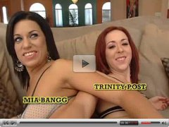 Trinity Post and Mia Bangg 4some