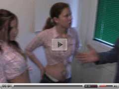 Faith and eva 2 young ladies jerk the oldman