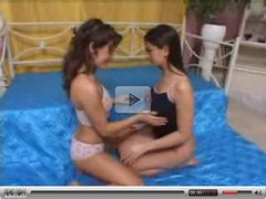 Lola Croft anf Eve Angel play together