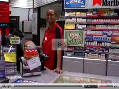 Nerdy Gas Station Clerk giving some extra service