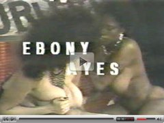 Ebony Ayes Big Black Boobs Interracial Threesome