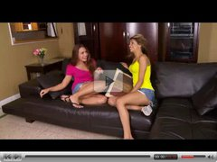 Renna Ryann And Veronica Rodriguez Making Out