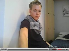 Fashion boy jerking on webcam