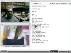 Chatroulette #75 Horny couple suck and fuck