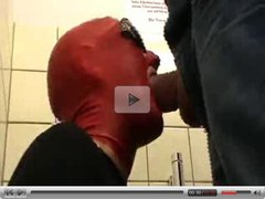 Quicky blowjob with red hood on