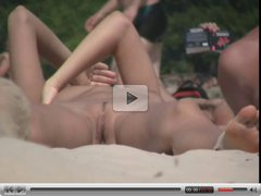 Nudist Beach hottie from ukraine -- Pussy close up voyeur