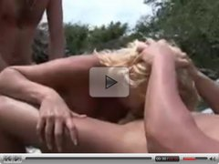 Outdoor Blonde DP & Friendly Fire ((FYFF))
