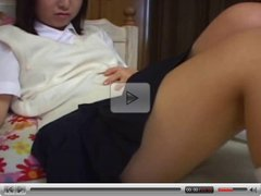 Japanese xxx schoolgirl down on her knees!