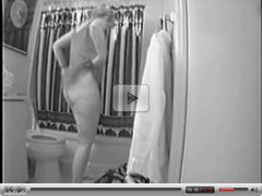 Spying my mum nude in bathroom. Hidden cam