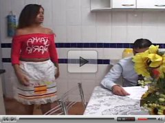 hot latin mature have sex in the kitchen
