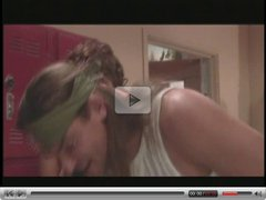 Hot young brunette does anal, takes a load on her ass in her high school hallway