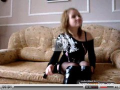Russian amateur couple fucking on cam