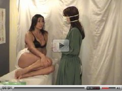 Two  lesbians girls playing the Doctor - suppository