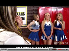 Slutty cheerleaders Alexis Ford and Courtney Cummz groupsex