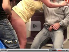 Gangbang sex - gangbang in subway train PART 1