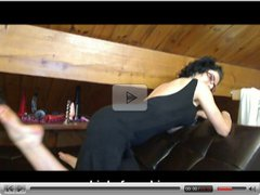 Bianca in a black dress blowjob and cock teasing with Jay