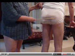 man spanked in his wet panties